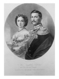 Wedding Portrait of their Royal Highnesses Princess Victoria Giclee Print by  German School