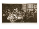 Puritans, Illustration from 'The Church of England: a History for the People' Gicleetryck av Edgar Bundy