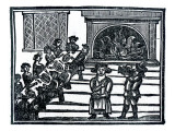 Christmas Entertainment, an Illustration from 'A Book of Roxburghe Ballads' Giclee Print by  English School