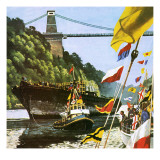 The Return to Bristol of Brunel's Great Ship the Ss Great Britain Giclee Print by  English School