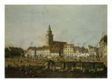 View of the Neue Markt with St. Mary&#39;s Church, Berlin, C.1770 Giclee Print by Karl Friedrich Fechhelm