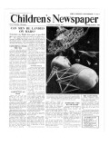 Can Man Be Landed on Mars, Front Page of 'The Children's Newspaper', October 1951 Giclee Print by English School