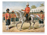 The 7th Bengal Infantry on Parade, the Anglo-Indian Army of the 1880S Giclee Print by Richard Simkin