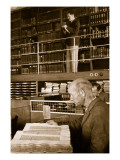 A Worker's Quiet Hour of Recreation in a Public Library Giclee Print by  German photographer