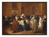 Ladies and Gentlemen in Carnival Costume in the Ridotto, Venice Giclee Print by  Guardi
