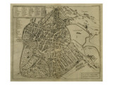 Map of Vicenza, Illustration from 'Civitates Orbis Terrarum', C.1580 Giclee Print by Georg Braun