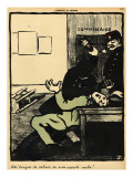 A Policeman Hits a Man with a Bottle in a Police Station Giclee Print by Félix Vallotton