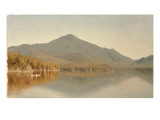 Mount Whiteface from Lake Placid, in the Adirondacks, 1863 Premium Giclee Print by Sanford Robinson Gifford