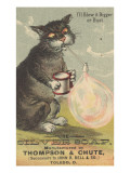 I'Ll Blow it Bigger or Bust', Advertisement for Silver Soap, C.1880 Giclee Print by  American School