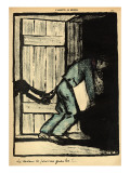 A Man Caught Putting Up Political Posters Is Thrown in Prison Giclee Print by Félix Vallotton