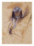Jockey Flexed Forward Standing in the Saddle, 1860-90 Giclee Print by Edgar Degas