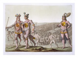 Chief Outina, Enemy of Saturiba, Walks Among His Followers, Plate 58 Giclee Print by Gallo Gallina