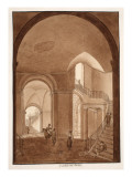 The Gardens Vestibule of the Palazzo Caetani All'Orso, 1833 Giclee Print by Agostino Tofanelli