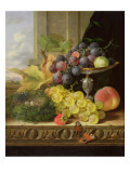 Still Life of Fruit, a Tazza and a Bird's Nest Giclee Print by Edward Ladell