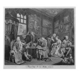 Marriage a La Mode, Plate I, the Marriage Settlement, 1745 Giclee Print by William Hogarth