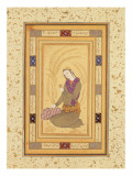 Seated Youth Holding a Cup, from the Large Clive Album, C.1610-20 Premium Giclee Print by  Persian School
