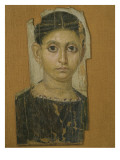 Mummy Female Portrait, from Fayum, Late 3rd Century Ad Giclee Print by Roman Period Egyptian