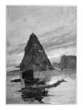 Rock of the Little Orphan on the Yangtze River, 1893 Giclee Print by Nikolay Karazin