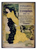 Ad for the 'Madrid International Exhibition of 1893-94' at the Palace of Industry and Arts Giclee Print by  Spanish School