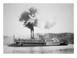The 'City of Louisville' Steamboat on the Ohio River, C.1870 Giclee Print by  American Photographer