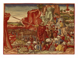 Moses Parting the Red Sea, Image from the Luther Bible Giclee Print by  German School