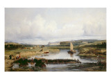 An Extensive River Landscape with a View of the Chateau D&#39;Amboise, 19th Century Giclee Print by Victor-Marie-Felix Danvin