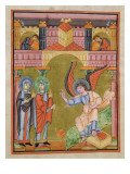 Fol. 33V from the Reichenau School Evangeliary, Codex F. Ii. 1 Giclee Print by  German School