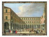 The Campo Del Rialto, with the Fabbricche Vecchio Di Rialto and San Giacomo Di Rialto Giclee Print by Luca Carlevaris