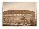 View of the Colosseum from the Baths of Titus, in the Year 1788, 1833 Giclee Print by Agostino Tofanelli