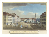View of the Hackescher Markt and the Church of St. Mary, Berlin Giclee Print by  German School