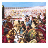 Slaughter in the Hippodrome at Constantinople in Ad 532 Giclee Print by  Payne