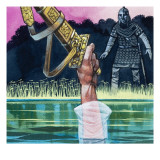 Sir Bedivere Returns Excalibur to the Lady of the Lake, 1972 Giclee Print by Richard Hook