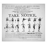 &#39;Take Notice&#39;, American Revolutionary War Recruitment Poster Giclee Print by American School 