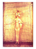 The Goddess Selket on the Canopic Shrine, from the Tomb of Tutankhamun Giclee Print by  Egyptian 18th Dynasty