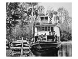 The 'Okahumkee' Steamer Taking on Wood Fuel in Florida, C.1895 Giclee Print by  American Photographer