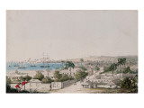 A View of Carlisle Bay and Bridgetown, Barbados Giclee Print by Charles Emilius Gold
