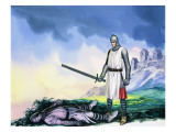 Tristan Sets Forth for Ireland, from 'Tristan and Isolde', 1973 Giclee Print by Ron Embleton