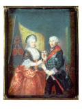 King Frederick Ii and His Wife, Elizabeth Christine, 1758 Giclee Print by Anton Friedrich Konig