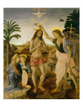 The Baptism of Christ by John the Baptist, C.1475 Giclee Print by Verrocchio