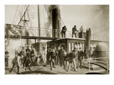 The 'Great Eastern' Recovering the Lost Atlantic Cable, 1866 Giclee Print by Robert Dudley