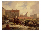 Period of Promoterism: Construction of the Grenadierstrasse, Berlin, C.1875 Giclee Print by Friedrich Kaiser