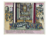 Abjuration of Henri Iv and Conversion to Catholicism at St. Denis on 15th July 1593 Giclee Print by Franz Hogenberg