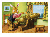 Rabbit with a Cannon, Illustration from 'Brer Rabbit' Giclee Print by Virginio Livraghi