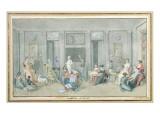 Family in a Study Room on the Ile De La Reunion, 1813 Giclee Print by  Patu de Rosemont