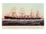 Guion Line Steamship Arizona, of the 'Greyhound Fleet' Giclee Print by N. Currier