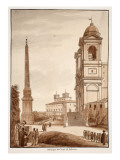 The Obelisk from the Circus of Sallustius, 1833 Giclee Print by Agostino Tofanelli