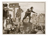 John Lilburne on the Pillory, Illustration from 'Cassell's Illustrated History of England' Giclee Print by  English School