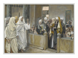 The Chief Priests Ask Jesus by What Right Does He Act in This Way Giclee Print by James Jacques Joseph Tissot