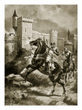 The Siege of Chaluz, Illustration from 'Hutchinson's Story of the British Nation', C.1920 Giclee Print by Henry Payne