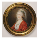 Portrait Miniature of Czarina Catherine the Great, 1796 Reproduction proc&#233;d&#233; gicl&#233;e par Friedrich Heinrich Fuger